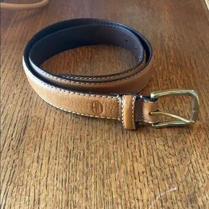 Fossil Leather Belt with Solid Brass Buckle